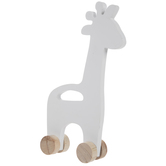 Giraffe Rolling Wood Decor