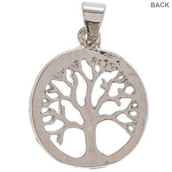 Round Rhinestone Tree Charm