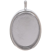 Oval Pendant Bezel - 22mm x 30mm