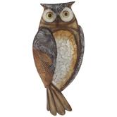 Bronze Owl Metal Wall Decor