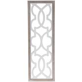 Gray & White Lattice Wood Wall Decor