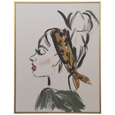 Woman With Headband Wood Wall Decor