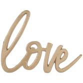 Gold Love Metal Decor