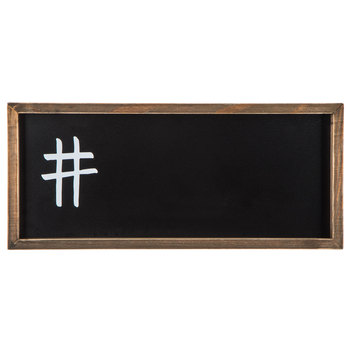 Hashtag Wood Chalkboard