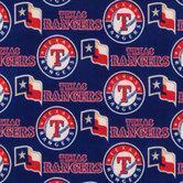 MLB Texas Rangers Fleece Fabric