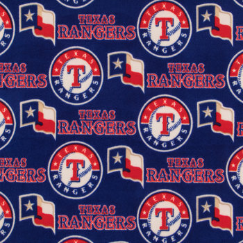 MLB Texas Rangers Fleece Fabric