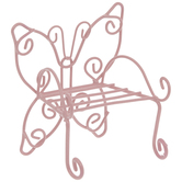 Pink Metal Butterfly Chair