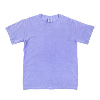 Fluorescent Blue Comfort Colors Heavyweight T-Shirt - Medium