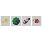 Planet, Star & Rocket Tattoos