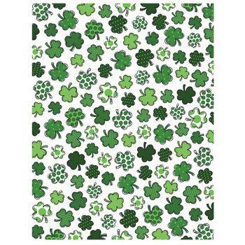 "Doodle Shamrocks Scrapbook Paper - 8 1/2"" x 11"""