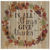 In All Things Give Thanks Wood Wall Decor
