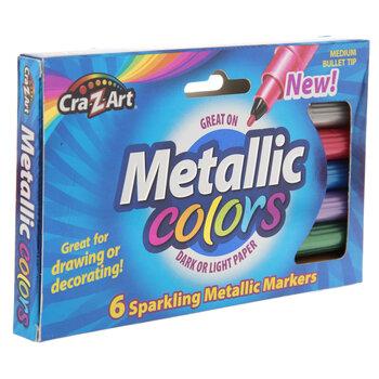 Sparkling Metallic Markers - 6 Piece Set