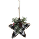 Black Buffalo Check Star Ornaments