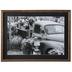 Black & White Flower Truck Framed Wall Decor