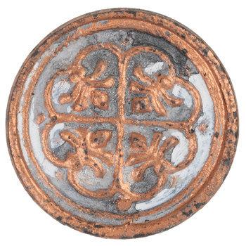 Round Distressed Embossed Metal Knob