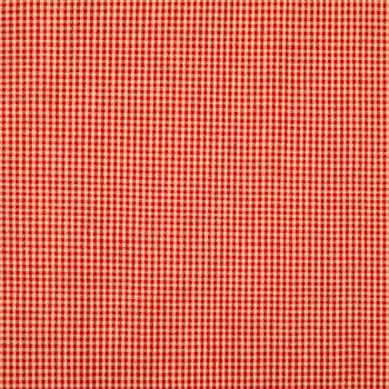 Red Rustic Woven Check Cotton Calico Fabric