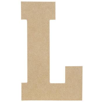 "Wood Letter L - 13"""