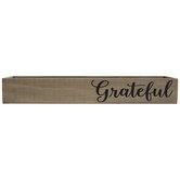 Brown Grateful Wood Box