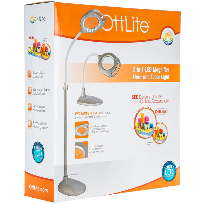 Ottlite 2 In 1 Magnifier Floor Table Light Hobby Lobby 1623206