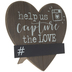 Capture The Love Heart Wood Decor
