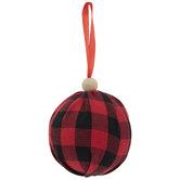 Red Buffalo Check Ball Ornaments