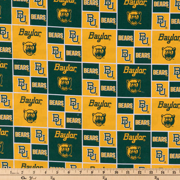 Baylor Block Collegiate Cotton Fabric