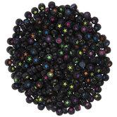 Black & Multi Round Star Beads