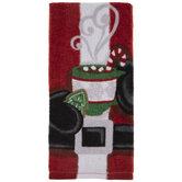 Santa & Cocoa Kitchen Towel