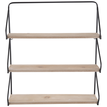Three-Tiered Simple Wood Wall Shelf