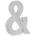 Whitewash Wood Symbol Wall Decor - Ampersand