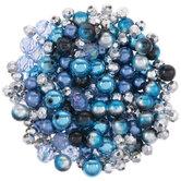 Blue & Metallic Bead Mix