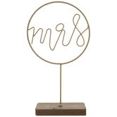 Gold Mrs Metal Decor