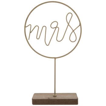 Gold Mrs Metal Decor