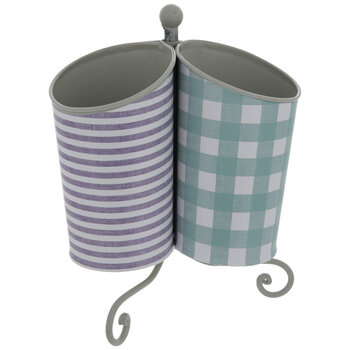 Farmhouse Patterned Spinning Metal Caddy