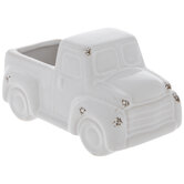 White Distressed Truck