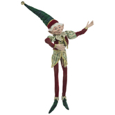 Elf With Green & Gold Striped Tunic