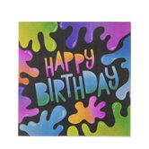 Slime Happy Birthday Napkins - Small