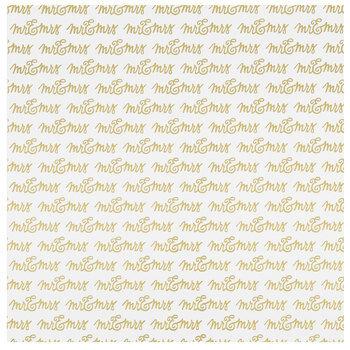 """Mr. & Mrs. Gold Foil Scrapbook Paper - 12"""" x 12"""""""