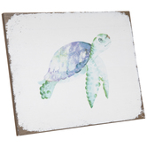 Sea Turtle Wood Decor