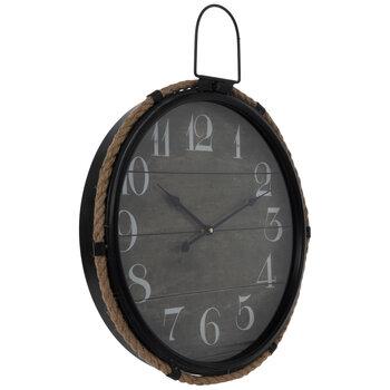 Round Rope Trim Metal Wall Clock