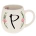 Floral Letter Mug - P