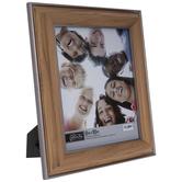 "Silver Trim Beveled Wood Look Frame - 8"" x 10"""