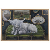 Highland Cow On Couch Wood Wall Decor