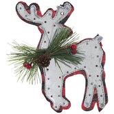 Buffalo Check & Galvanized Reindeer Ornament