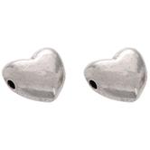 Metal Heart Beads - 9mm