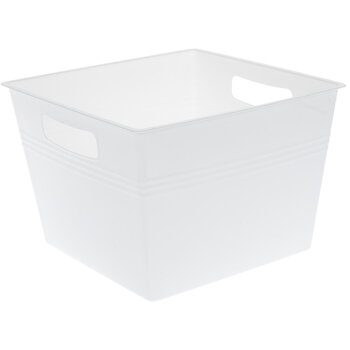 White Square Container With Handles