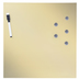 Gold Magnetic Metal Dry Erase Board
