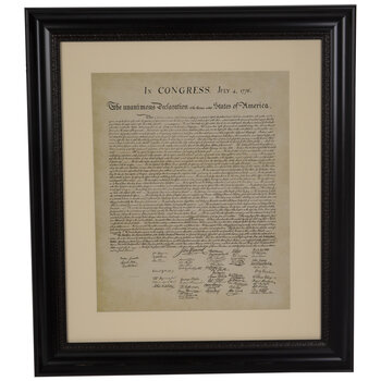 Declaration Of Independence Framed Wall Decor