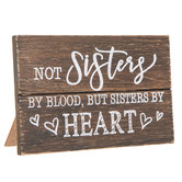 Sisters By Heart Wood Decor