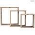 Brown Square Wood Wall Shelf Set